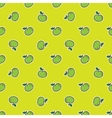 doodle hand drawn apple seamless pattern vector image