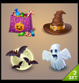 halloween icons-set 2 vector image