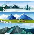 Mountain Landscapes Banner Set vector image
