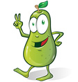 pear cartoon isolated on white background vector image