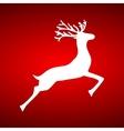 Reindeer on red background vector image