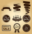Set of labels vintage for sale concept vector image