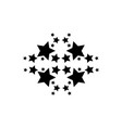 star style on white background collection vector image