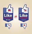 like republican or democrat presidential election vector image