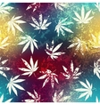Rastafarian colors pattern and grunge hemp leaves vector image