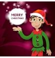 Funny Cute Santa Dwarf Christmas Red vector image