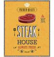 Steak house2 vector image vector image