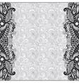 grey unusual floral ornamental template vector image