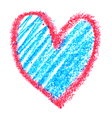 Red and blue heart vector image