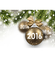 2016 New Year card vector image vector image