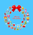 Christmas Wreath Assembled from Traditional vector image