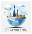 England Landmark Global Travel And Journey vector image