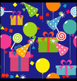 birthday seamless wallpaper vector image vector image
