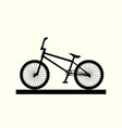 bmx bike silhouette vector image