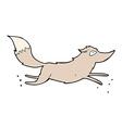 comic cartoon wolf running vector image