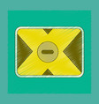 Flat shading style icon removable hard drive vector image