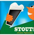 Irish Stout Drinker vector image