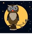 owl tree moon vector image
