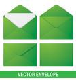 realistic green envelope mockups vector image