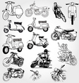 Scooter sketches vector image