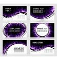 Set of six Fiery cards vector image