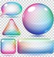 Transparent multicolor glass shapes vector image