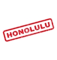 Honolulu Rubber Stamp vector image