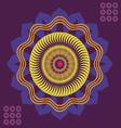 spring floral meditation poster vector image vector image