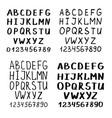 Handwriting font or calligraphy latin alphabet vector image