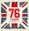 vintage united kingdom flag tee print design vector image