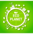 Eco planet background poster vector image