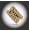 Old teathre ticket in projector light vector image