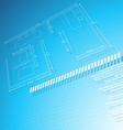 architechural technical drawing vector image