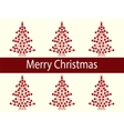 Merry Christmas balls tree garland vector image