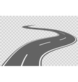 Abstract winding road vector image
