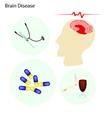 A Brain Disease Concept with Disease Treatment vector image