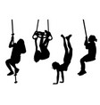 children swinging and playing outdoor vector image