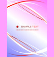 corporate business template red- blue background vector image