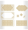 gold framework with geometrical and vector image