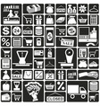 icons shop vector image