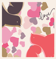 kissing pigeons valentine print vector image