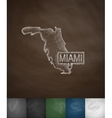 Miami Map icon Hand drawn vector image
