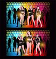 silhouette dancing girl vector image