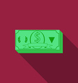 Flat design money icon with long shadow vector image