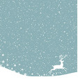Christmas postcard background with white deer vector image vector image