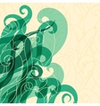 Abstract background hair curls and waves vector image vector image