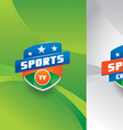 Sports emblem with background vector image