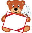 Bear banner vector image