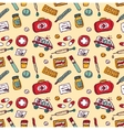 Wallpaper medical objects color seamless pattern vector image vector image