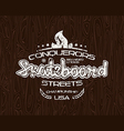 Skateboard emblem for t shirt vector image